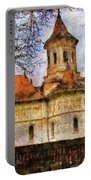 Old Church With Red Roof Portable Battery Charger by Jeff Kolker