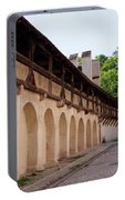 Old City Wall In St Alban Basel Switzerland Portable Battery Charger
