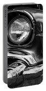 Old Classic Car In Black And White Portable Battery Charger