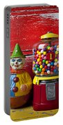 Old Clown Toy And Gum Machine  Portable Battery Charger by Garry Gay