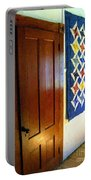 Old Door - New Quilt Portable Battery Charger