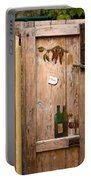 Old Door And Wine Portable Battery Charger