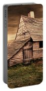 Old English Barn Portable Battery Charger by Lourry Legarde