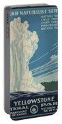 Old Faithful At Yellowstone Portable Battery Charger