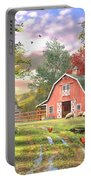 Old Farm House Variant 1 Portable Battery Charger