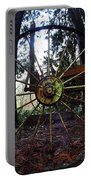 Old Farm Wagon Wheel Portable Battery Charger