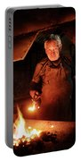Old-fashioned Blacksmith Heating Iron Portable Battery Charger