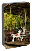 Old-fashioned Merry-go-round Portable Battery Charger