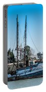 Old Fishing Boat In Port Portable Battery Charger