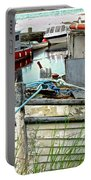 Old Fishing Boats Portable Battery Charger