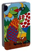 Old Folks Dancing Portable Battery Charger by Rojax Art