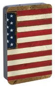 Old Glory Displayed On Wood Portable Battery Charger