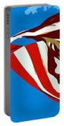 Old Glory Flying Portable Battery Charger