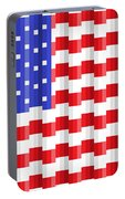 Pixilated Old Glory Portable Battery Charger