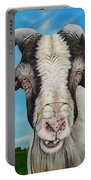 Old Goat - Painting By Cindy Chinn Portable Battery Charger