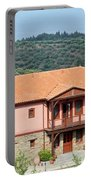 old house Sithonia Greece summer vacation scene Portable Battery Charger