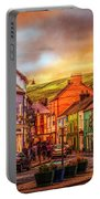 Old Irish Town The Dingle Peninsula Late Sunset Portable Battery Charger