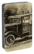 Old Jalopy In Wiscasset Portable Battery Charger