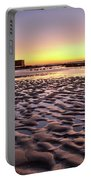 Old Lifesavers Building Covered By Warm Sunset Light Portable Battery Charger