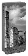 Old Limestone House Ruins Portable Battery Charger