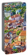 Old Ljubljana Cityscape Aerial View Portable Battery Charger