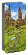 Old Man Of Storr Pinnacles Portable Battery Charger