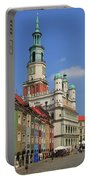 Old Marketplace And The Town Hall Poznan Poland Portable Battery Charger