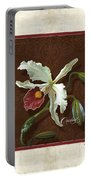 Old Masters Reimagined - Cattleya Orchid Portable Battery Charger