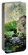 Old Mill In April Portable Battery Charger