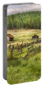 Old Montana Homestead Portable Battery Charger by Sharon Foster