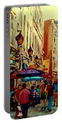 Old Montreal Cafes Portable Battery Charger