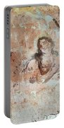 Old Mural Painting In The Ruins Of The Church Portable Battery Charger