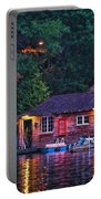 Old Muskoka Boathouse At Night Portable Battery Charger