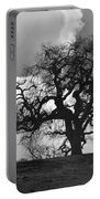 Old Oak Against Cloudy Sky Portable Battery Charger