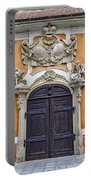 Old Ornate Door At The Cesky Krumlov Castle At Cesky Krumlov In The Czech Republic Portable Battery Charger