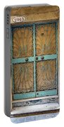 Old Ornate Wrought Iron Door In Venice, Italy  Portable Battery Charger