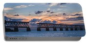 Old Rail Bridge At Florida Keys Portable Battery Charger