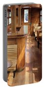 Old Railway Wagon Interior Vintage Portable Battery Charger
