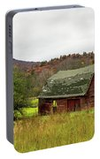 Old Red Adirondack Barn Portable Battery Charger by Nancy De Flon