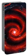 Old Red Spiral Galaxy Portable Battery Charger