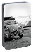 Old Retro Car Citroen On The Street Portable Battery Charger