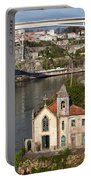 Old Riverside Church In Portugal Portable Battery Charger