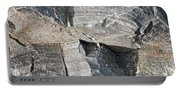 Old Rock Background Portable Battery Charger