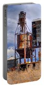 Old Rusted Grain Silo - Utah Portable Battery Charger
