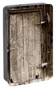 Old Rustic Black And White Barn Woord Door Portable Battery Charger