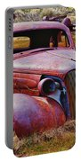Old Rusty Car Bodie Ghost Town Portable Battery Charger by Garry Gay