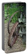 Old Rusty Wagon Wheels Portable Battery Charger
