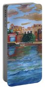 Old San Juan Gate, 4x6 In. Original Is Sold Portable Battery Charger