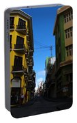 Old San Juan Puerto Rico Downtown On The Corner Portable Battery Charger