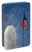 Old San Juan Puerto Rico Old Glory Portable Battery Charger